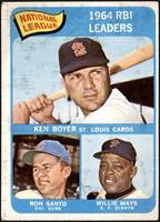 National League 1964 RBI Leaders (Ken Boyer, Ron Santo, Willie Mays) [FAIR]