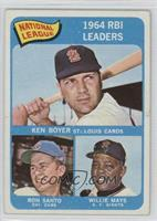 National League 1964 RBI Leaders (Ken Boyer, Ron Santo, Willie Mays) [Good&nbsp…