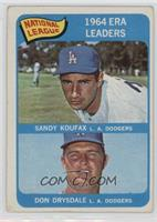 NL ERA Leaders (Sandy Koufax, Don Drysdale) [Poor to Fair]