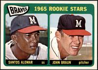 1965 Rookie Stars - Santos Alomar, John Braun [NMMT]