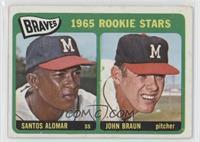 1965 Rookie Stars - Santos Alomar, John Braun [GoodtoVG‑EX]