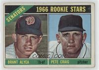 1966 Rookie Stars - Brant Alyea, Pete Craig [Good to VG‑EX]