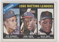 1965 NL Batting Leaders (Roberto Clemente, Hank Aaron, Willie Mays) [Good …