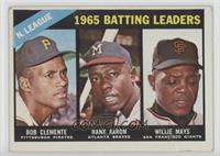 1965 NL Batting Leaders (Roberto Clemente, Hank Aaron, Willie Mays) [Good…
