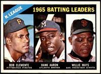1965 NL Batting Leaders (Roberto Clemente, Hank Aaron, Willie Mays) [NMMT]