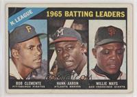 1965 NL Batting Leaders (Roberto Clemente, Hank Aaron, Willie Mays) [Poor…