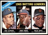 NL Batting Leaders (Bob Clemente, Hank Aaron, Willie Mays) [NM]