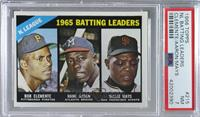 NL Batting Leaders (Bob Clemente, Hank Aaron, Willie Mays) [PSA7NM]