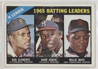NL Batting Leaders (Bob Clemente, Hank Aaron, Willie Mays) [Poor]