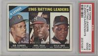 NL Batting Leaders (Bob Clemente, Hank Aaron, Willie Mays) [PSA 2]