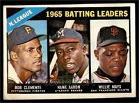 NL Batting Leaders (Bob Clemente, Hank Aaron, Willie Mays) [GOOD]