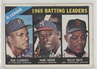 NL Batting Leaders (Bob Clemente, Hank Aaron, Willie Mays) [GoodtoV…