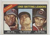 1965 AL Batting Leaders (Tony Oliva, Carl Yastrzemski, Vic Davalillo) [None&nbs…