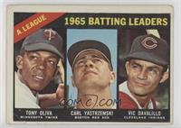 AL Batting Leaders (Tony Oliva, Carl Yastrzemski, Vic Davalillo) [Poorto&…