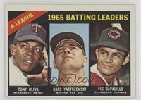 AL Batting Leaders (Tony Oliva, Carl Yastrzemski, Vic Davalillo) [Goodto&…