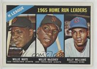 1965 NL Home Run Leaders (Willie McCovey, Willie Mays, Billy Williams)