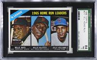 1965 NL Home Run Leaders (Willie McCovey, Willie Mays, Billy Williams) [SGC&nbs…