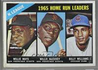 1965 NL Home Run Leaders (Willie McCovey, Willie Mays, Billy Williams) [Poor&nb…