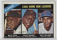 1965 NL Home Run Leaders (Willie McCovey, Willie Mays, Billy Williams) [Good&nb…