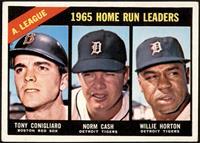 1965 AL Home Run Leaders (Tony Conigliaro, Norm Cash, Willie Horton) [VG+]