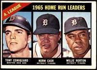 1965 AL Home Run Leaders (Tony Conigliaro, Norm Cash, Willie Horton) [VG]