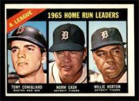 1965 AL Home Run Leaders (Tony Conigliaro, Norm Cash, Willie Horton) [EX]