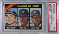 1965 AL Home Run Leaders (Tony Conigliaro, Norm Cash, Willie Horton) [PSA…