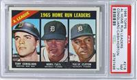 A. League Home Run Leaders (Tony Conigliaro, Norm Cash, Willie Horton) [PSA&nbs…