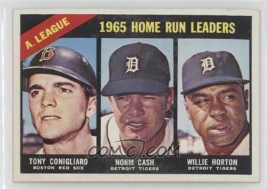 1966 Topps - [Base] #218 - A. League Home Run Leaders (Tony Conigliaro, Norm Cash, Willie Horton)