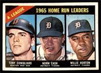 A. League Home Run Leaders (Tony Conigliaro, Norm Cash, Willie Horton) [GOOD]