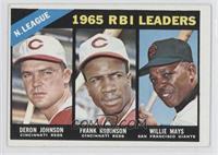 1965 NL RBI Leaders (Deron Johnson, Frank Robinson, Willie Mays)