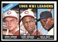 N. League RBI Leaders (Deron Johnson, Frank Robinson, Willie Mays) [EX]