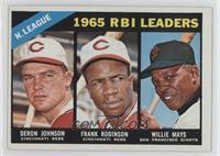 N. League RBI Leaders (Deron Johnson, Frank Robinson, Willie Mays)