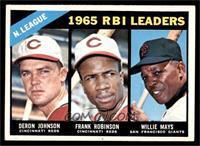 N. League RBI Leaders (Deron Johnson, Frank Robinson, Willie Mays) [EXMT]