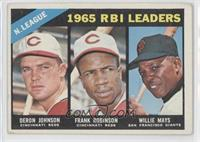 N. League RBI Leaders (Deron Johnson, Frank Robinson, Willie Mays) [Good t…