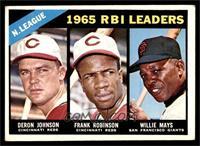 N. League RBI Leaders (Deron Johnson, Frank Robinson, Willie Mays) [VGEX]