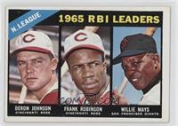 N. League RBI Leaders (Deron Johnson, Frank Robinson, Willie Mays) [Poort…