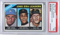 1965 ERA Leaders (Sandy Koufax, Juan Marichal, Vern Law) [PSA7]