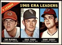 1965 AL ERA Leaders (Sam McDowell, Eddie Fisher, Sonny Siebert) [EXMT]