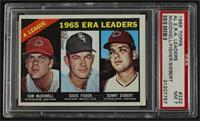 1965 AL ERA Leaders (Sam McDowell, Eddie Fisher, Sonny Siebert) [PSA7&nbs…