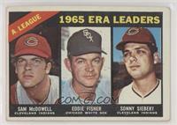 1965 AL ERA Leaders (Sam McDowell, Eddie Fisher, Sonny Siebert) [Poorto&n…