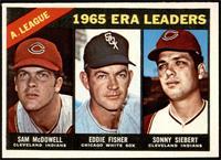 1965 AL ERA Leaders (Sam McDowell, Eddie Fisher, Sonny Siebert) [EX]