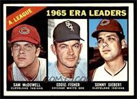 1965 AL ERA Leaders (Sam McDowell, Eddie Fisher, Sonny Siebert) [NM]