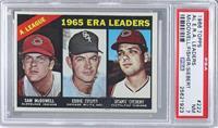 AL ERA Leaders (Sam McDowell, Eddie Fisher, Sonny Siebert) [PSA7]