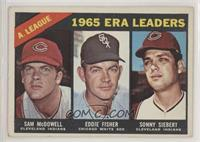 AL ERA Leaders (Sam McDowell, Eddie Fisher, Sonny Siebert) [Poor to F…