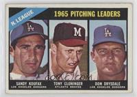 1965 NL Pitching Leaders (Sandy Koufax, Tony Cloninger, Don Drysdale) [Good&nbs…