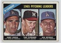 Sandy Koufax, Tony Cloninger, Don Drysdale [Good to VG‑EX]