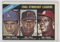 1965 NL Strikeout Leaders (Sandy Koufax, Bob Veale, Bob Gibson) [Poor to&n…