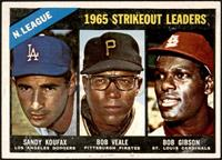 1965 NL Strikeout Leaders (Sandy Koufax, Bob Veale, Bob Gibson) [EX]
