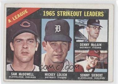 1966 Topps - [Base] #226 - Sam McDowell, Mickey Lolich, Denny McLain, Sonny Siebert [GoodtoVG‑EX]